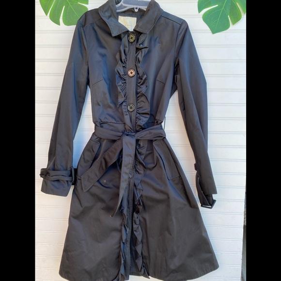 Kate Spade Ruffled Trench City Coat